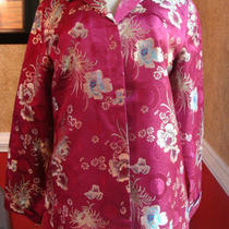 Chico's Fuschia Fancy Floral Asian Designed Jacket-Nice-1 Photo