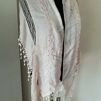 Chicos Laura Lace Straight Oblong Scarf in Pink Blush Nwt Photo