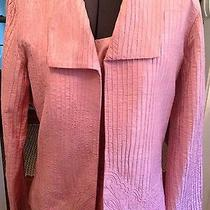 Chico's Silk Jacket and Shell Blush Pink Size 1 (10-12) Photo