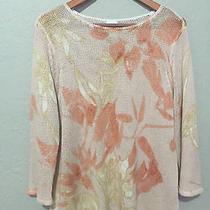 Chico's Size 2 Womens Blush Pink Knit Sweater Top - Euc Photo