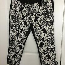 Chico's Stretch Jeans Sz 2 Stretch White / Black With Front Pockets Photo