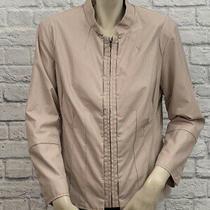 Chico's Women's Blush Pink Faux Leather Jacket Size 2 (L) Photo