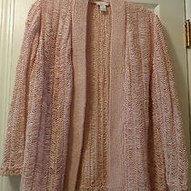 Chicos Textured Blush Cardigan-Size 1 Photo
