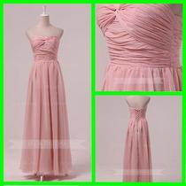 Chictwisted Sweetheart Neckline Blush Bridesmaid Dress B469 Photo