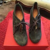 Chie Mihara Shoes Olga Lace Up Booties Platform Pump Blue Green. 37 Photo