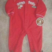 Child of Mine by Carters Christmas Holiday Sleeper Pajamas Size Newborn Nwt Photo