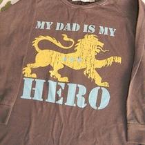 Childish Boys 3t My Dad Is My Hero Lion Griffin Brown Ls Shirt Photo
