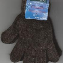 Children Gloves Chenille Magic Brown by Gold Medal One Size New Photo
