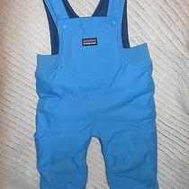 Children's 6m Blue Patagonia Snow Pants Bib. Photo