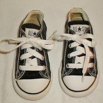 Children's Black All Star Converse Size 7 Photo