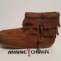 Children's Brown Minnetonka Shoes Size 6c Photo