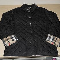 Children's Burberry Children Quilted Jacket Coat Black Size 10y Authentic Photo