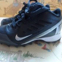 Children's Cleats by Nike Black/silver Size 12 Photo