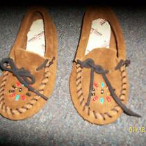 Children's Leather Minnetonka Moccasins Size 10 Photo