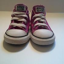 Children's Size 8 Fushia Low-Top Converse  Photo