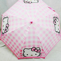 Children's Umbrella Hello Kitty Pink Plaid  Photo