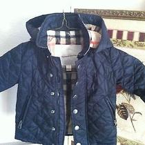 Childrens Burberry Coat Jacket 12 M Navy Blue Photo