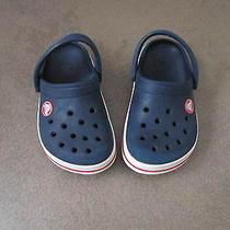 Childrens Croc Sandles Blue Size 8/9 Photo