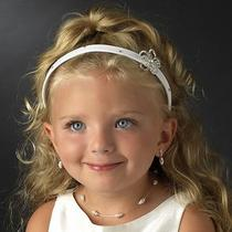 Childrens Flower Girl Hairpiece/headband With Swarovski Crystals  Photo