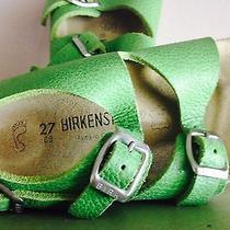 Childrens Lime Green Birkenstock Sandals  Size 9.5  Photo