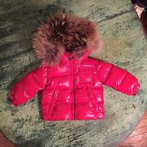 Childrens Moncler Fur Hooded Puffer Jacket Photo