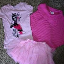 Childrens Place Dkny Tulle Shirt and Skirt Poncho 5 6 Photo