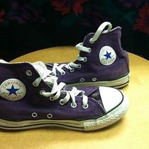 Childrens Purple Chuck Taylor Converse All Stars Size 2  Photo
