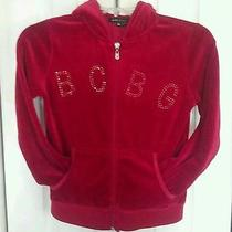 Childrens Red Bcbg Maxazria Hooded Athletic Sweater Rn86297 Size 12  Photo