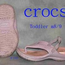 Childrens Size 8 Crocs Water Sandals Hiking Walking Shoes 3183 Photo