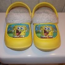 Childrens Slip on Immitation Crocs With Spongebob Photo