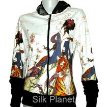 Chinese Lady Tiger Hoodie Jacket Sweater Shirt Fancy Asian Art Print Painting Photo