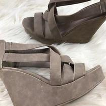 Chinese Laundry Beige Pump Wedges Sandals Size 8.5 Photo