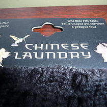 Chinese Laundry Black and Gray Luxury Leg Warmers Photo
