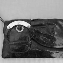 Chinese Laundry Black & Grey Reptile Embossed Pvc Wrist/clutch Purse Photo