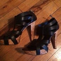 Chinese Laundry Black Wood Heels  Photo
