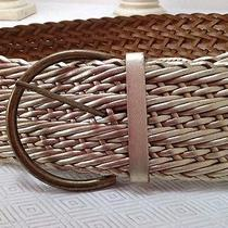 Chinese Laundry Braided Gold Leather Belt Women's Large 3