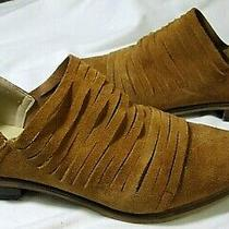 Chinese Laundry Danika Brown Strappy Suede Zip Low Ankle Booties Size 7.5 Mint Photo