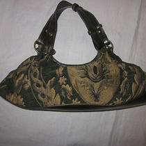 Chinese Laundry Green and Gold Hobo Purse Photo