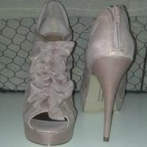 Chinese Laundry Haylie Blush / Pink Size 6 Stiletto Platform Peep Toe New Photo