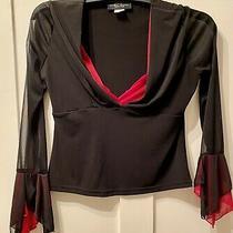 Chinese Laundry Ladies Fabulous Top.  Black & Red. Size Large Uk 14.  New. Photo