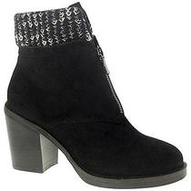 Chinese Laundry Marvel Black Suede Ankle Bootie Womens Size 6 M Photo