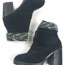Chinese Laundry Marvel Black Suede Ankle Shoe Boot Bootie Size 39 8.5m Women's Photo