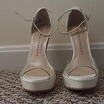 Chinese Laundry Marvelous Clear and White Heels Size 5.5  Photo