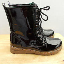 Chinese Laundry New Size 9 Black Boots Mid Calf Lace Up  Waterproof  Photo