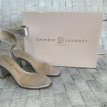 Chinese Laundry Reggie Metallic Silver Block Heels Photo