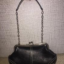 Chinese Laundry Shoulder or Clutch Handbag Black and Silver Photo