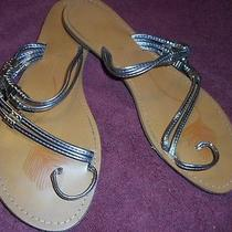 Chinese Laundry Silver Sandals  (8.5) Photo