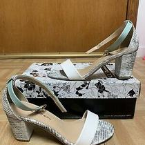 Chinese Laundry Strappy Heels Size 6 Teal Mint Black White Photo