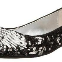 Chinese Laundry Women's Good Times Sequined Ballet Flat - Black/silver Size 7.5 Photo