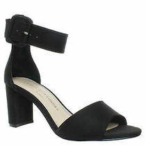 Chinese Laundry Womens Rumor Black Suede Ankle Strap Heels Size 7 (1185011) Photo